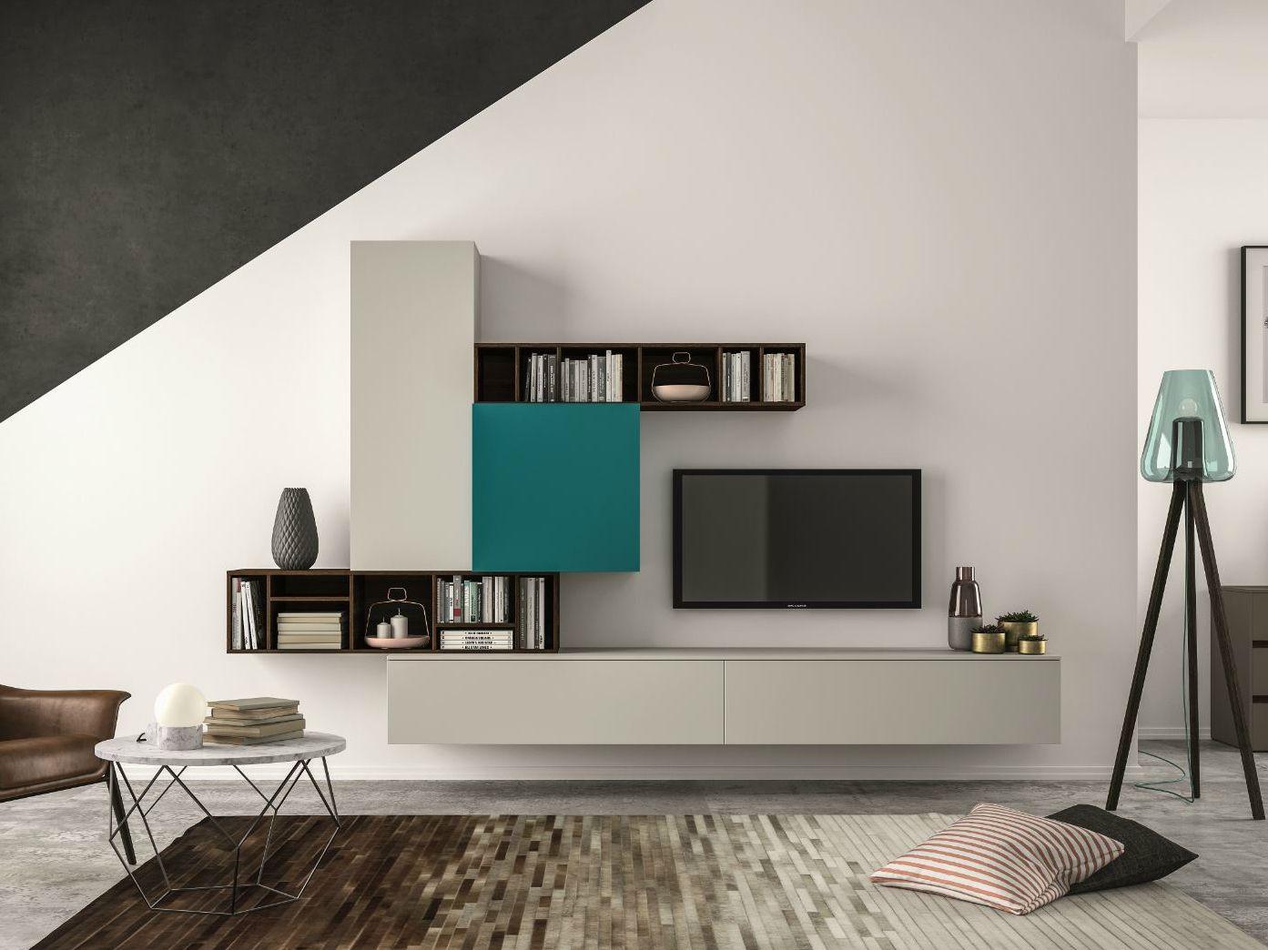 Mueble modular de pared composable slim 101 by dall agnese dise o imago design massimo rosa - Dall agnese mobili classici ...