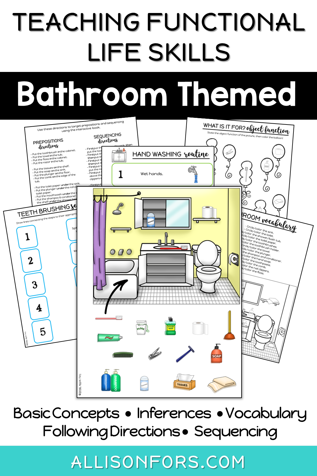 Bathroom Life Skills Interactive Book Speech Therapy