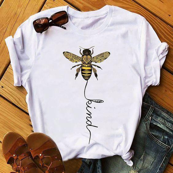 SAVE THE BEES RETRO VEGAN T-shirt Eco Tee Top