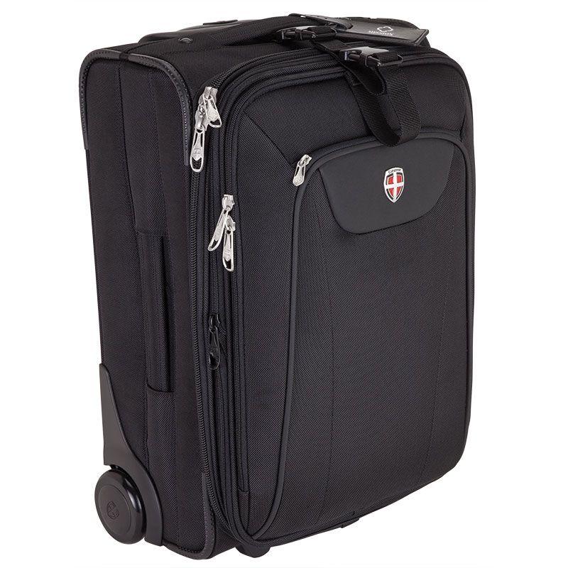 ELLEHAMMER Trolley Travel Suitcase Cabin size Black NEW