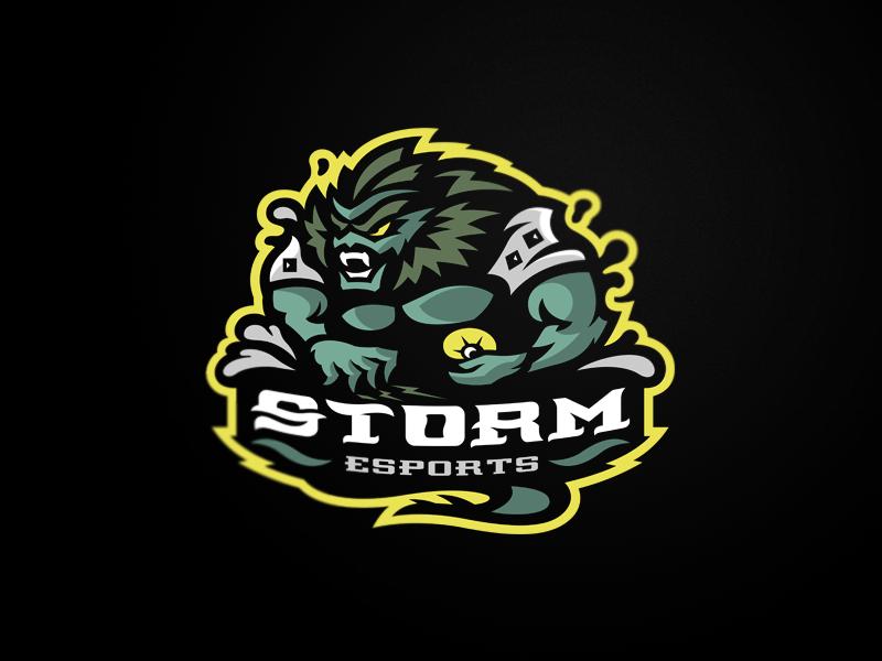 Storm Game logo design, Logo design inspiration, Sports