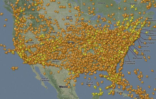 Flightradar24 A Service That Tracks Air Traffic On A Live Map