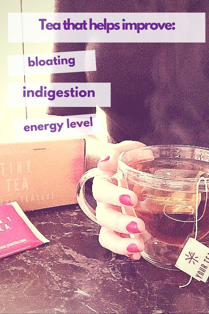 tinytea by your tea helps cure bloating and indigestion