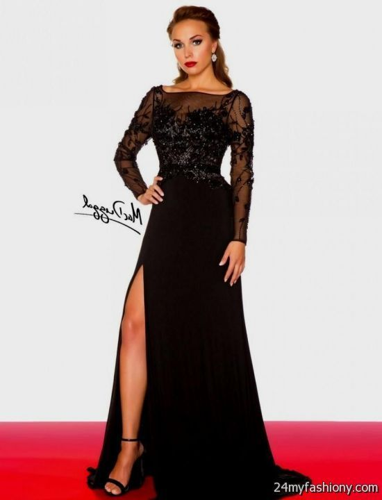 Long sleeve prom dresses 2016