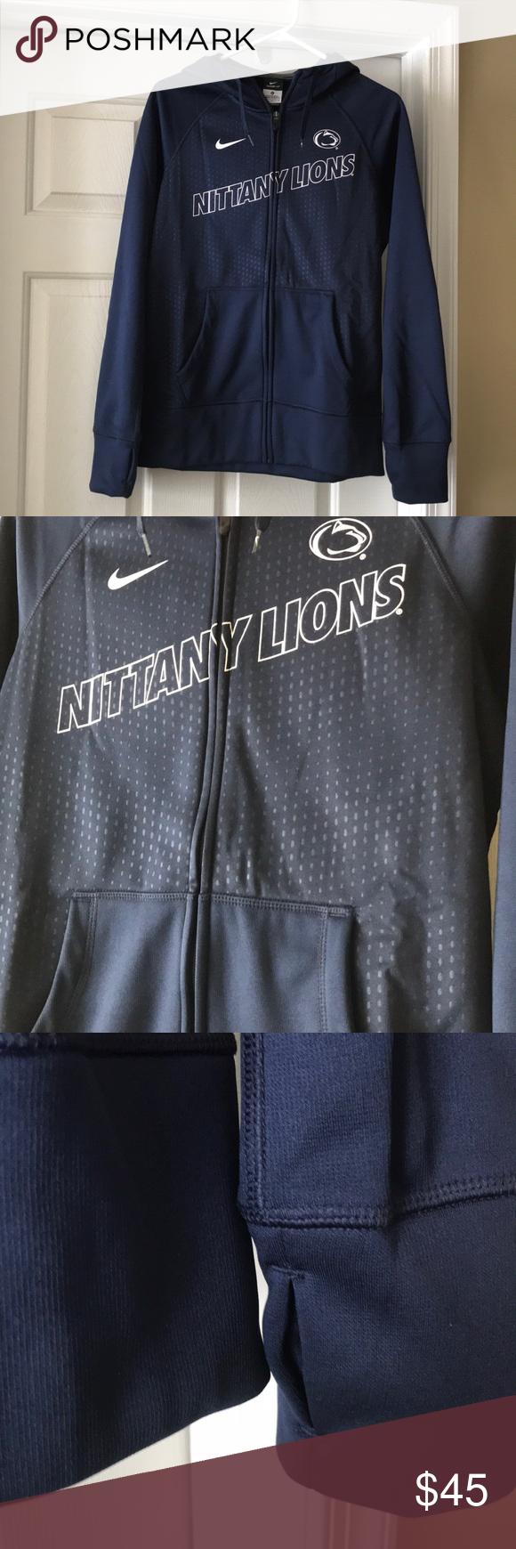Penn State Nike Zip Up Hoodie Nike Zip Up Hoodie Brands Clothes Design [ 1740 x 580 Pixel ]
