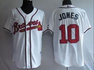 370202375  10 Chipper Jones Atlanta Braves Jersey White Atlanta Braves Shirt