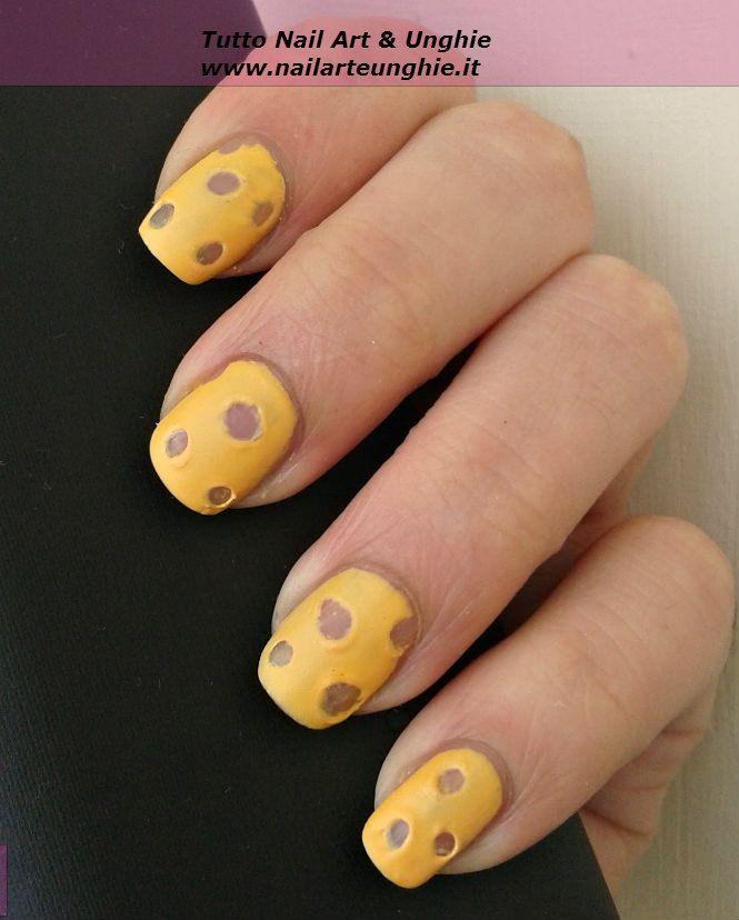 Fabulous Nail art facile per chi è alle prime armi: unghie formaggiose Ieri  ZK14