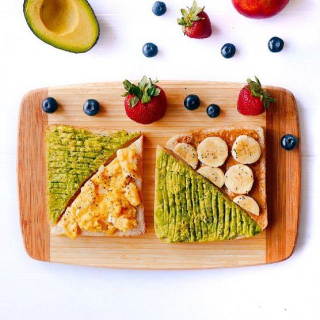 Ham And Avocado Scramble Recipe: 3 Toasts. Avocado Banana Speculoos And Cheesy Scrambled