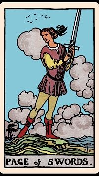The Card of the Day: The Page of Swords