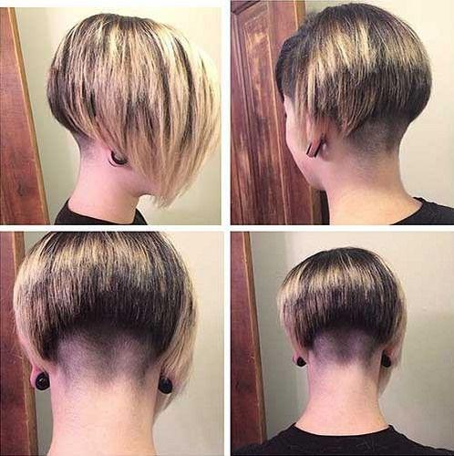 Nicely Clippered Bob Kurze Haare Mit Stufen Bob Frisur Frisuren