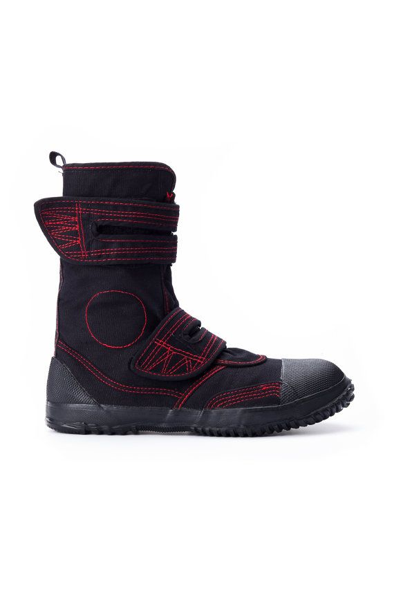 54d8a49645a6c Fugu Japanese Unisex Vegan Cool Boots Red Stitch Black | Clothes I ...