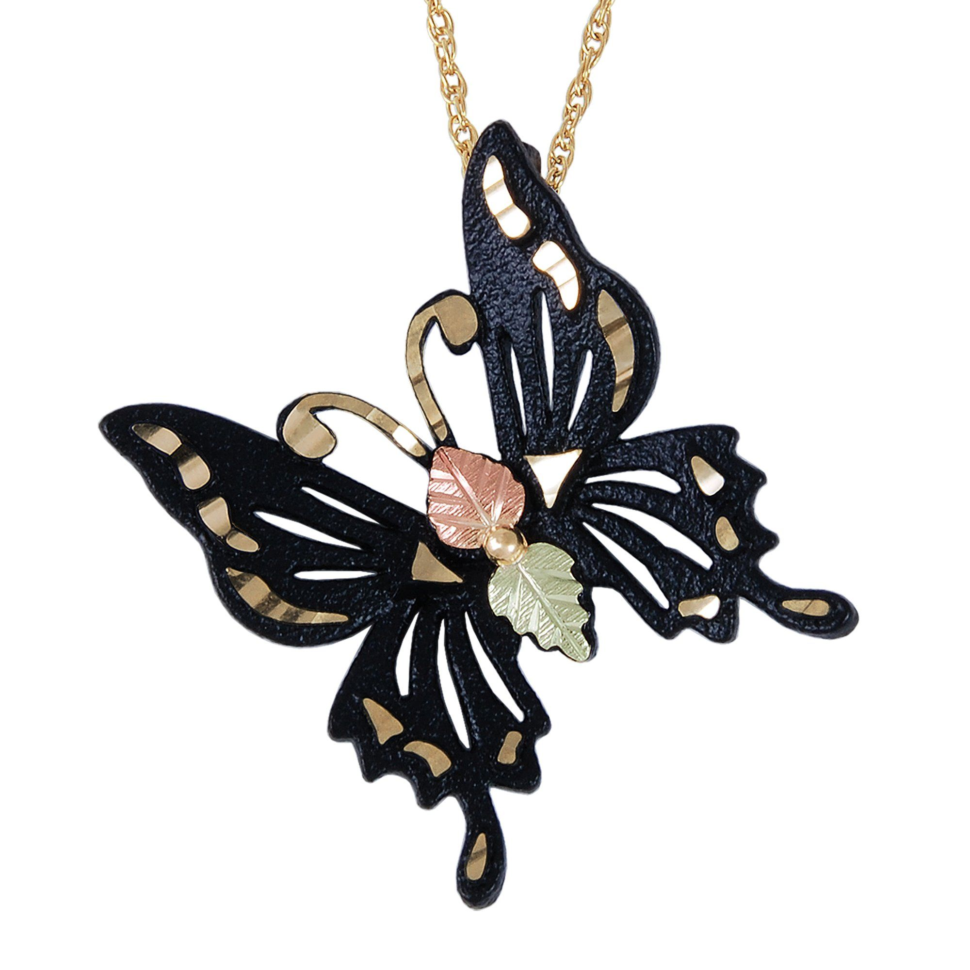 d8b5c5eeeb5a6 Black Butterfly Pendant & Necklace - Black Hills Gold in 2019 ...