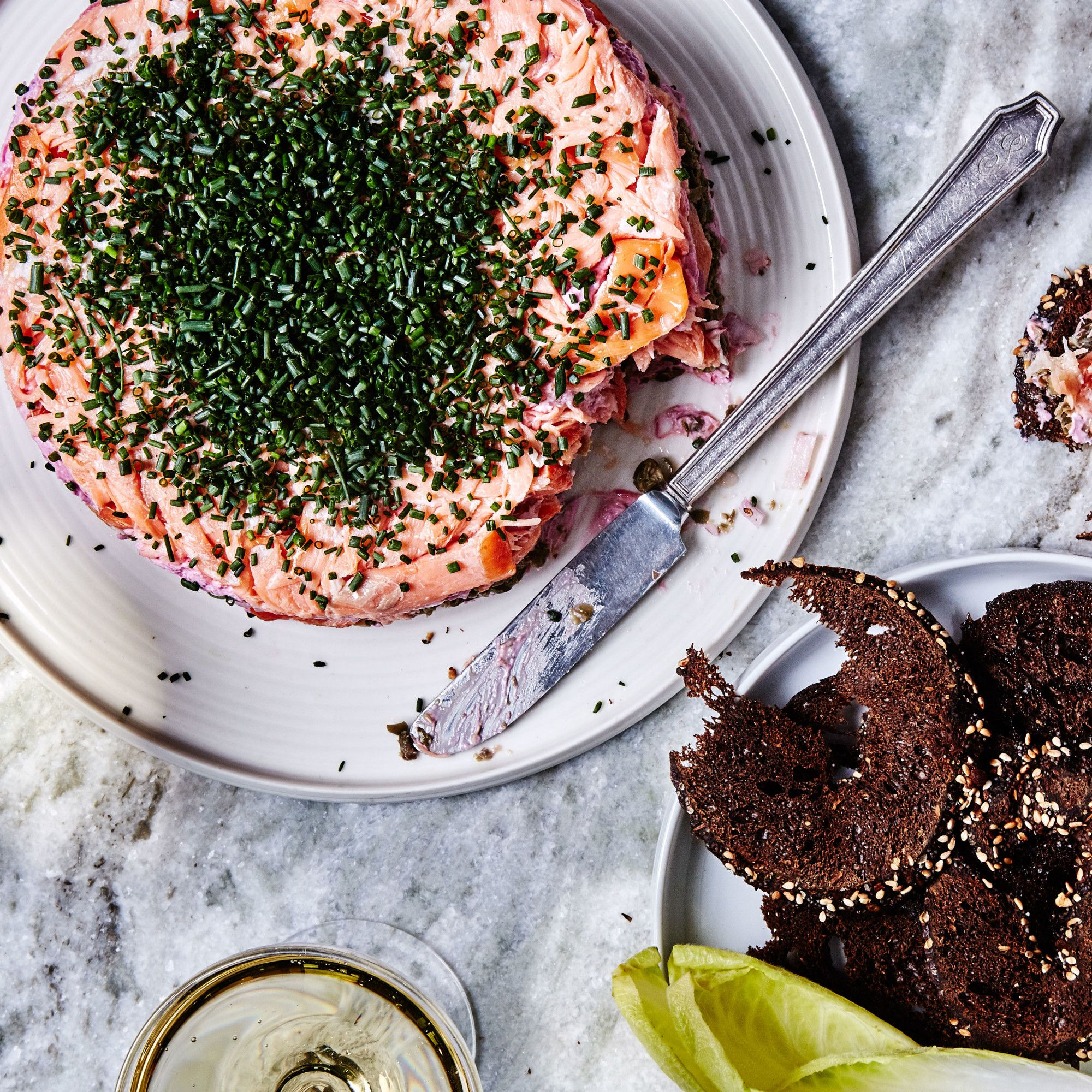 Smoked Salmon 7-Layer Dip Recipe #7layerdip