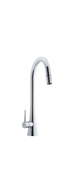 Franke FF250 Pulldown Spray High Arch Kitchen Faucet Chrome Faucet Kitchen Single Handle