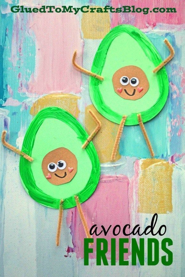 Craft Foam Egg Avocado Friends - Kinderhandwerk Craft Foam Egg Avocado Friends - Kinderhandwerk ,