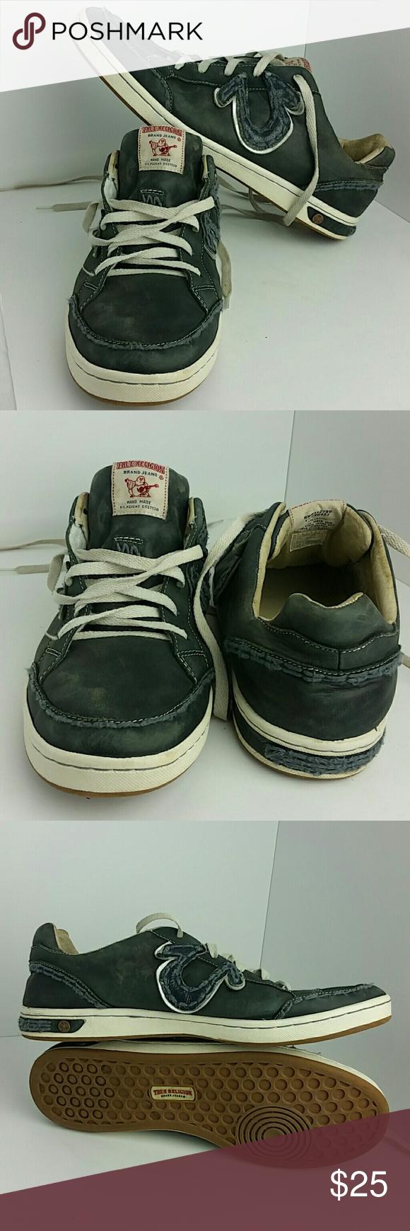 TRUE RELIGION MEN'S SHOES IN GOOD CONDITION   SKE # FM True Religion Shoes Sneakers