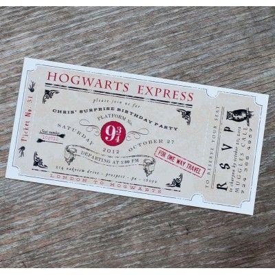 Magic Wizard Invitation - Birthday Party Printable Invitation
