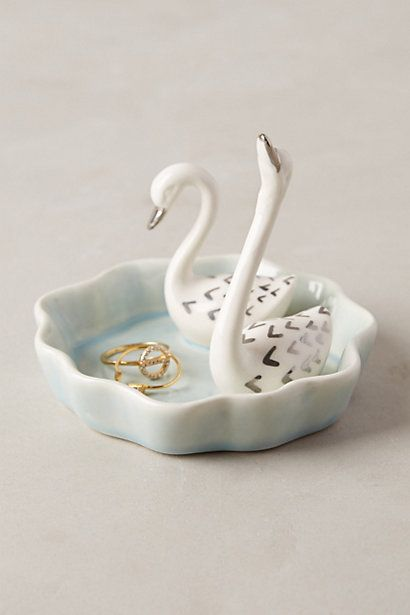 Swimming Swans Trinket Dish #anthrofave