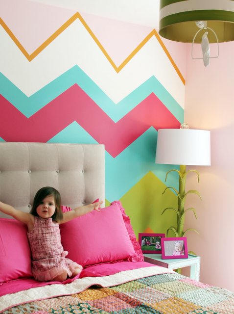 Inspiration For Creating An Accent Wall Driven By Decor Creative Kids Rooms Girl Room Little Girl Rooms