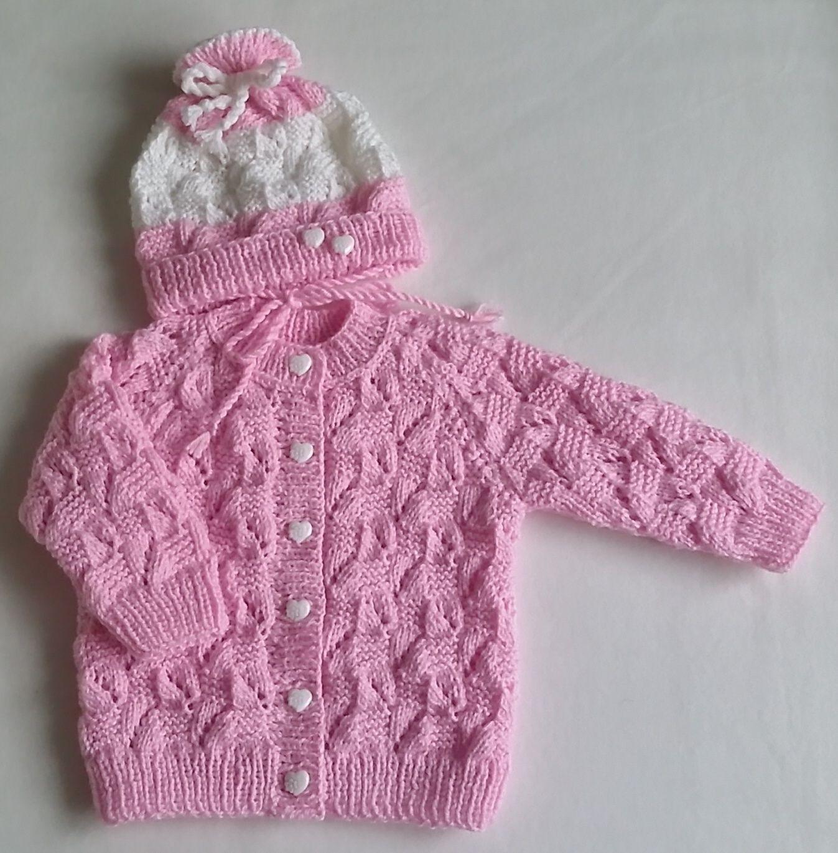 růžová+soupravička+pletené+na+zakázku  3963d9a400