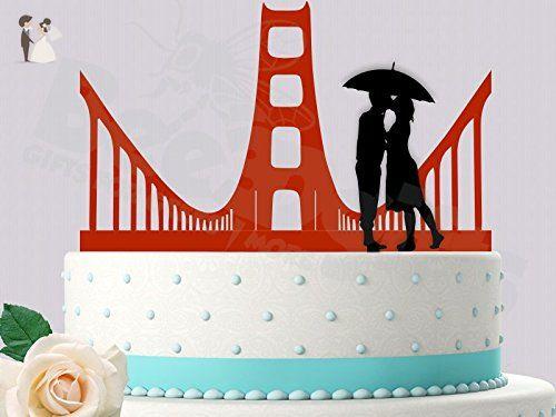 Golden gate love san francisco inspired wedding cake topper cake golden gate love san francisco inspired wedding cake topper cake and cupcake toppers junglespirit Choice Image