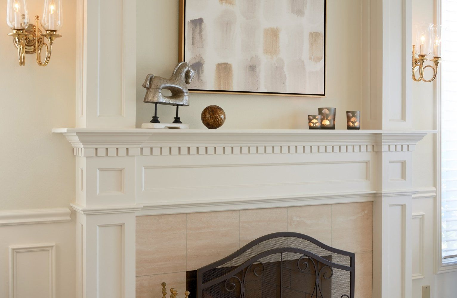 Soft earth tones of brown, gray, beige, and gold bring warmth to ...