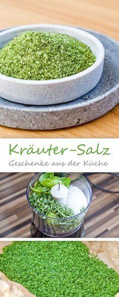 Kräutersalz - Basilikum, Oregano, Rosmarin Kräutersalz - geschenke aus der küche rezepte