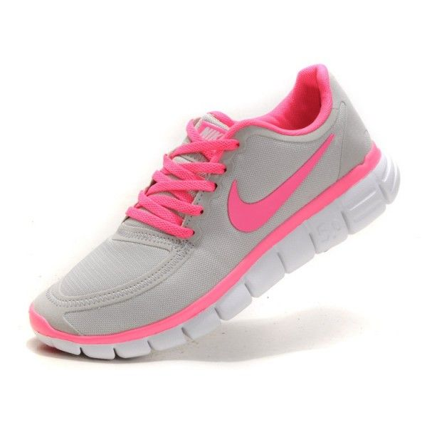 fa1577261916 nike free run 5.0 v4 womens grey hot pink running shoes