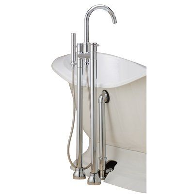 Jacuzzi Primo 66in White Acrylic Bathtub with Center