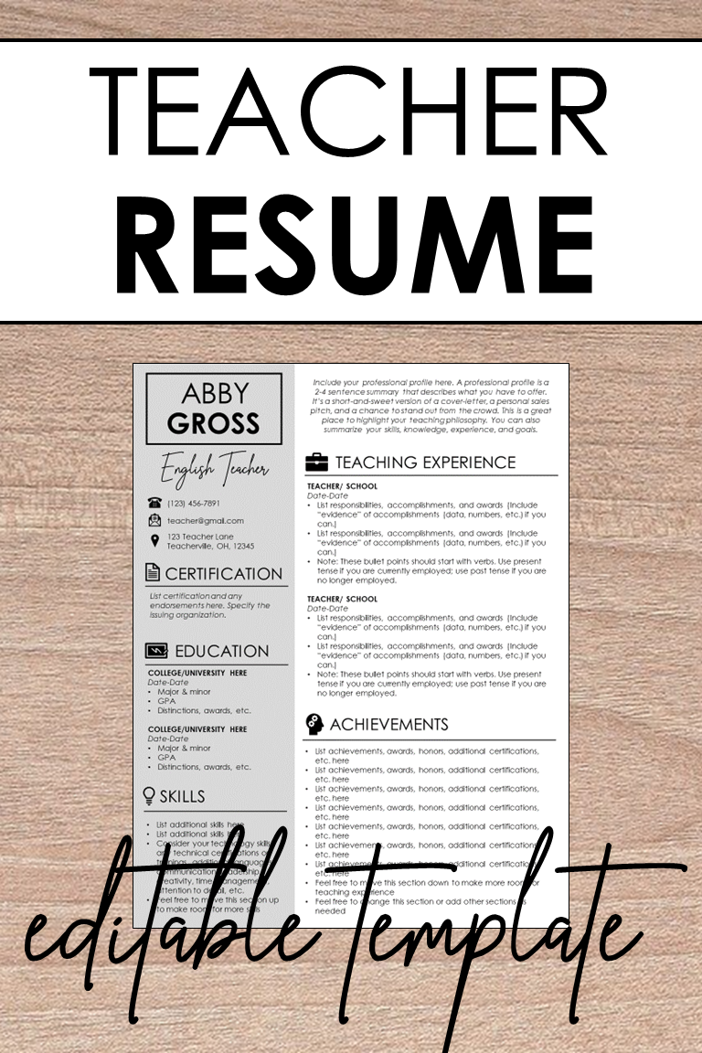 Teacher Resume Cover Letter Template Step By Step Writing Guide Cover Letter For Resume Teacher Resume Resume Cover Letter Template