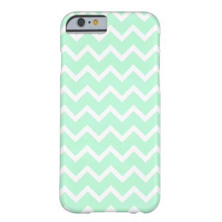 Mint Green Zigzag Chevron Stripes. iPhone 6 Case