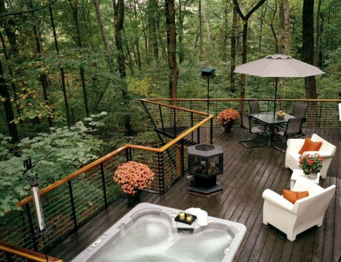 Garde-corps terrasse et balcon en verre, bois ou inox? Garde - Prix Terrasse Bois Suspendue