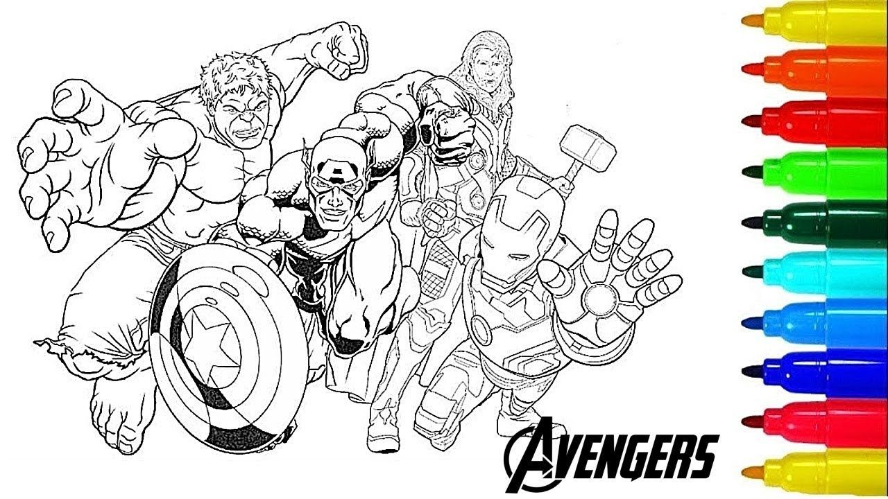 Avengers Coloring Pages, Coloring The Avengers Squad, Iron ...
