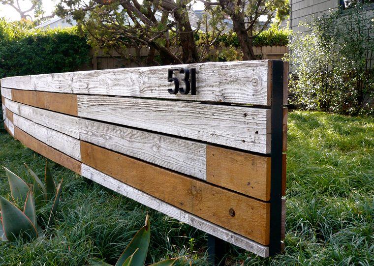 Fence of reclaimed wood valle de verde garden design