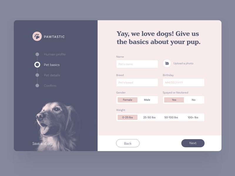 Create Your Pet Profile Photo Design App Form Design Form Design Web