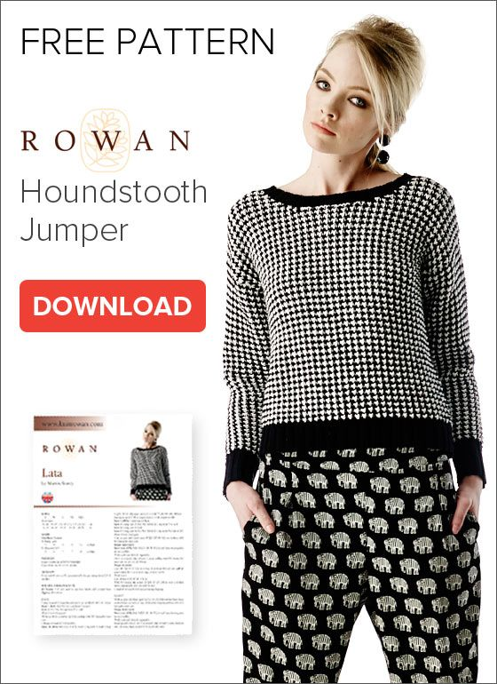 Free Knitting Pattern Rowan Houndstooth Jumper The One From Ally