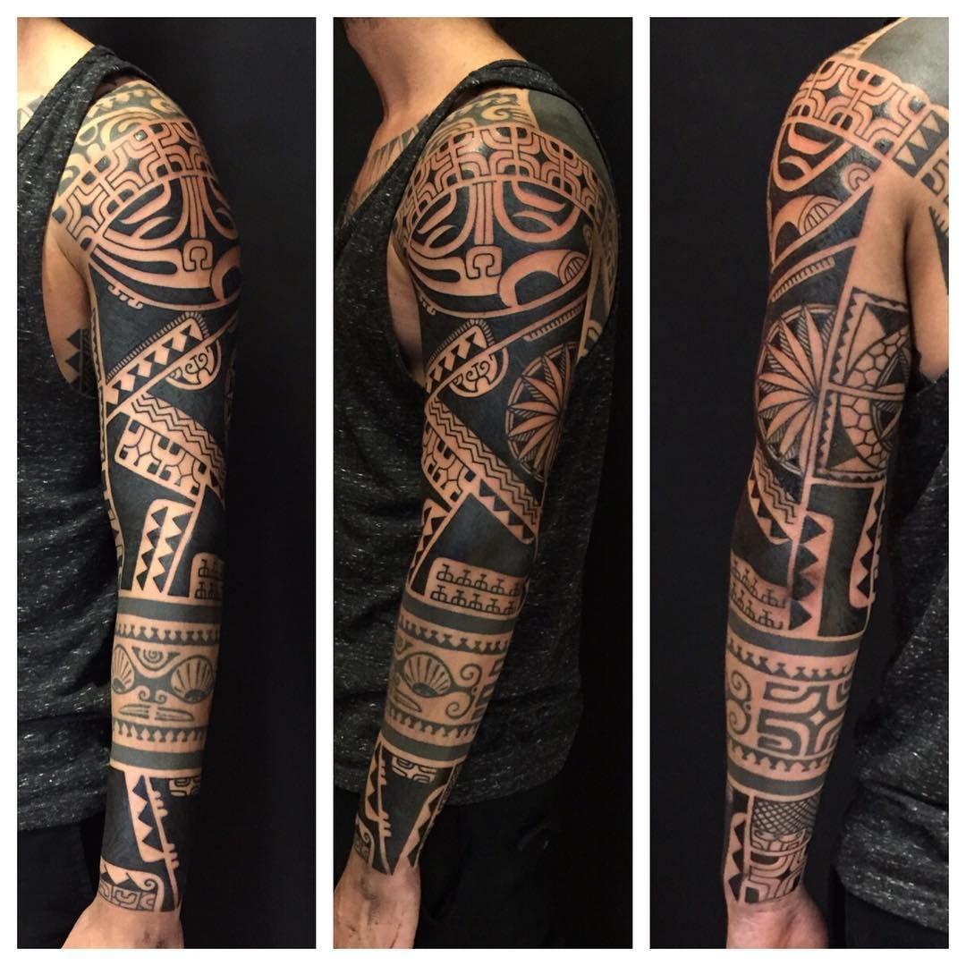 Tribal sleeve tattoo tribal tattoos pinterest tattoo for Tribal tattoo sleeves