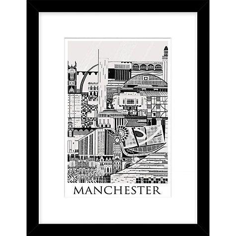 Buy emma hardicker manchester framed print 43 x 33cm online at johnlewis com