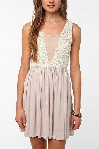 Pins and Needles Knit Lace Mix Dress