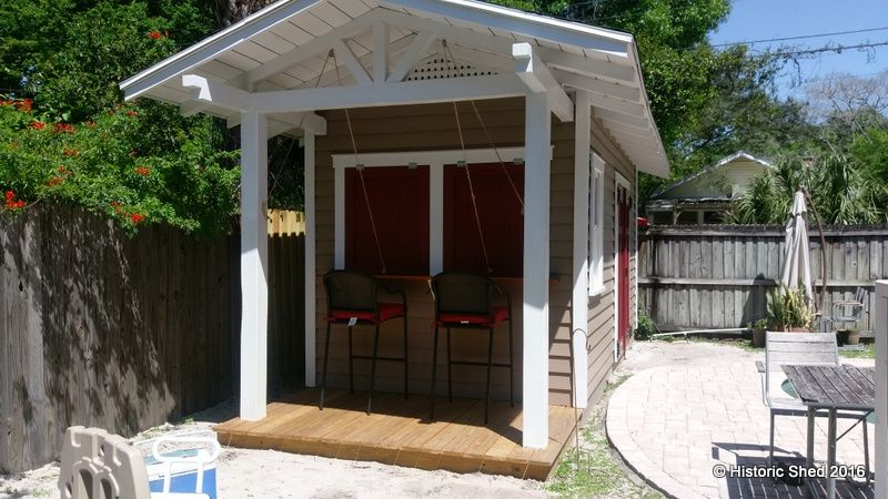 One Of Our Customer Favorites Is The Tropical Snack Shack That We Built In Palm Harbor With Combination Bar And Storage Shed