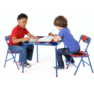 Tremendous 3 Piece Spider Man Table And Chair Set Nickelodeon Andrewgaddart Wooden Chair Designs For Living Room Andrewgaddartcom