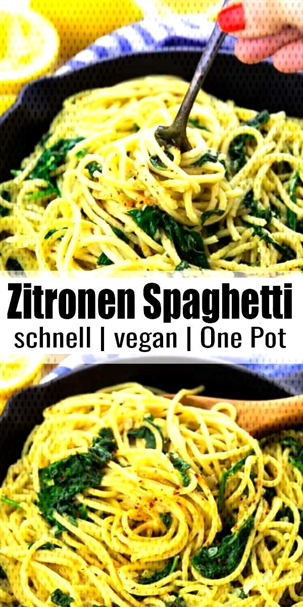 Lemon spaghetti - Super easy recipe for lemon spaghetti with spinach. Not only super tasty, but al