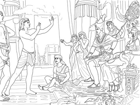 Joseph Interpreting The Pharaoh S Dream Coloring Page Coloring