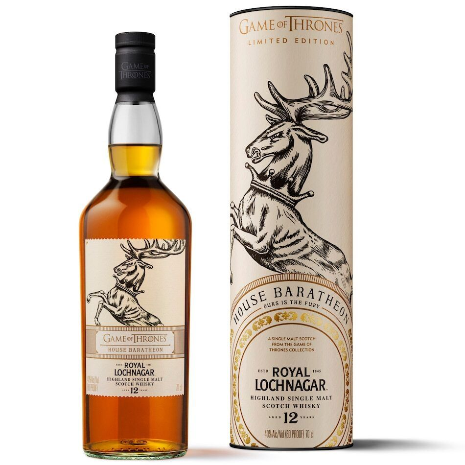Royal Lochnagar Whisky 12 Y O Game Of Thrones Edition Haus Baratheon Whisky Karamellisierte Bananen Spirituosen