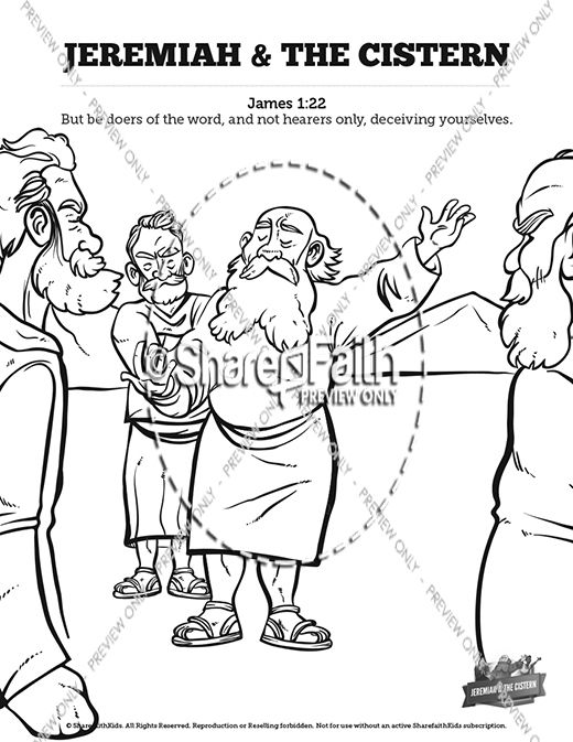 The Prophet Jeremiah Sunday School Coloring Pages Bibliai - copy coloring pages for zacchaeus