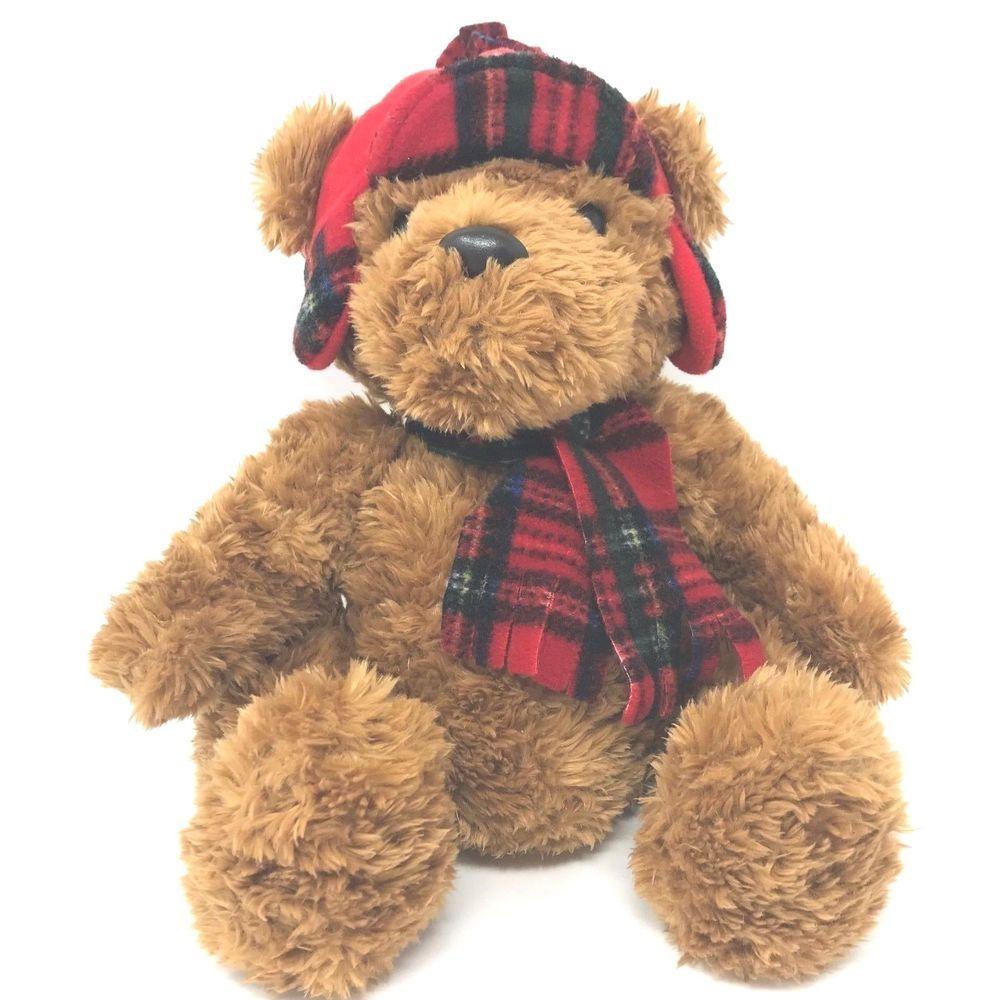 c5b16c9a43a Aurora World Lumberjack Teddy Bear Plush Toy 12