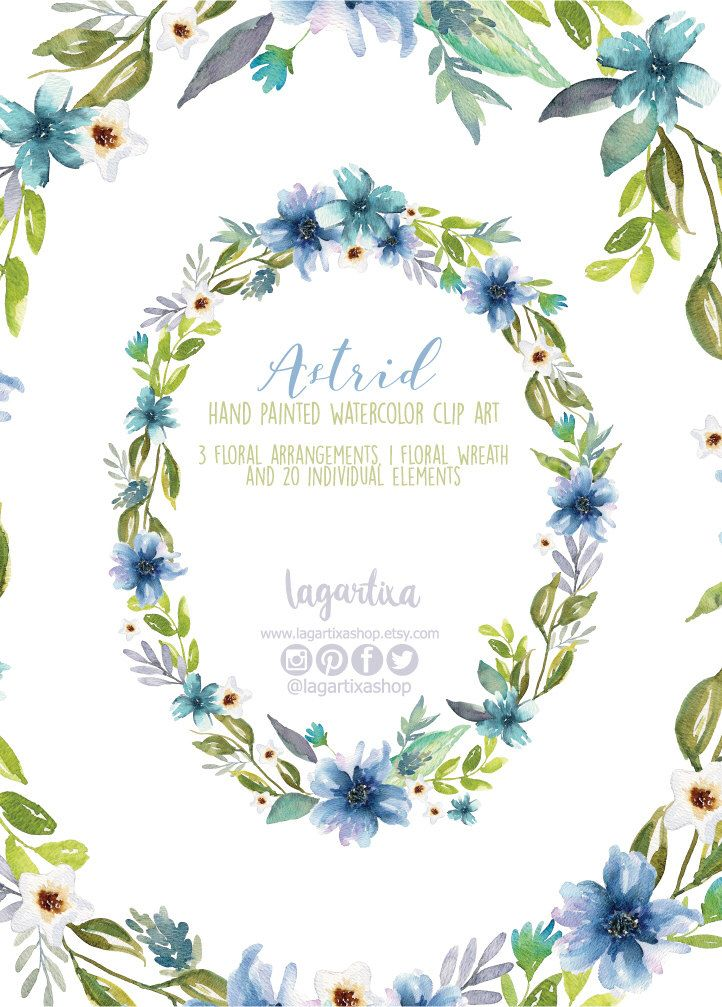 Watercolor clipart, Floral Frame PNG, wedding bouquet, arrangement ...