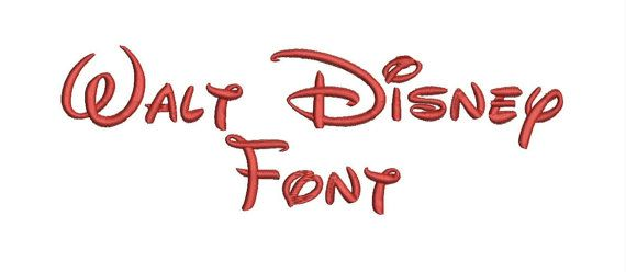 Walt Disney Font AZ and 0 9 Embroidery Design by HomeEmbroider