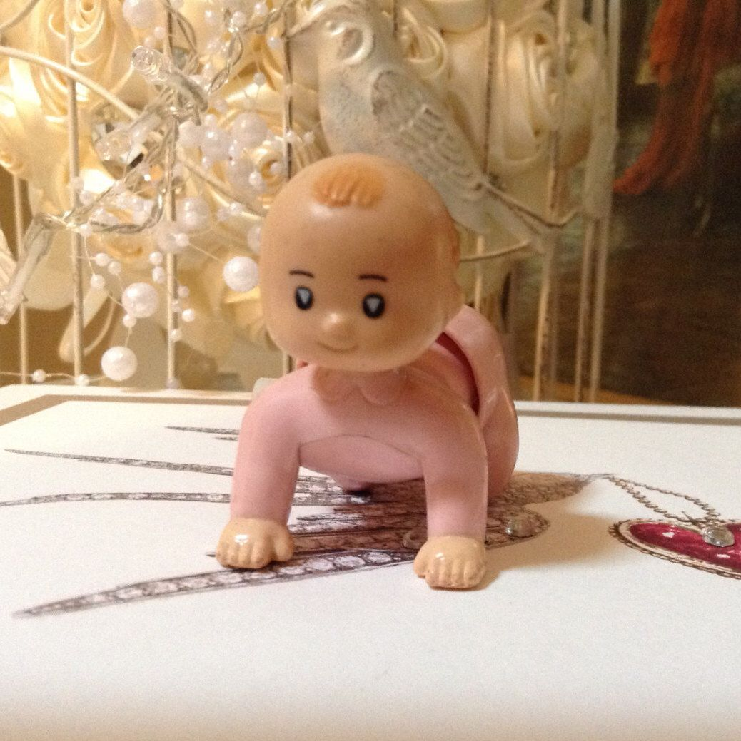 Selco Crawling Wind Up Baby/Working/Rare Item. Super Cute by MerryLegsandTiptoes on Etsy https://www.etsy.com/listing/460485612/selco-crawling-wind-up-babyworkingrare