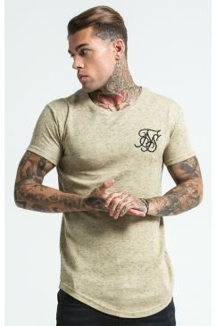 85dd83aa8 SikSilk Stray Neps Curved Hem Tee - Sand in 2019 | Sexy Men ...